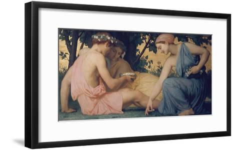 Spring, 1858-William Adolphe Bouguereau-Framed Art Print