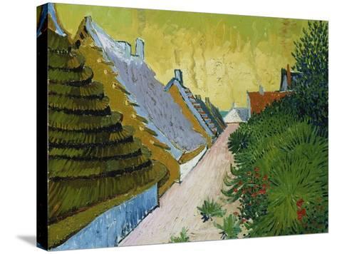 Village Street in Saintes-Maries, 1888-Vincent van Gogh-Stretched Canvas Print
