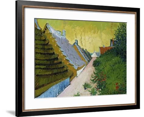 Village Street in Saintes-Maries, 1888-Vincent van Gogh-Framed Art Print