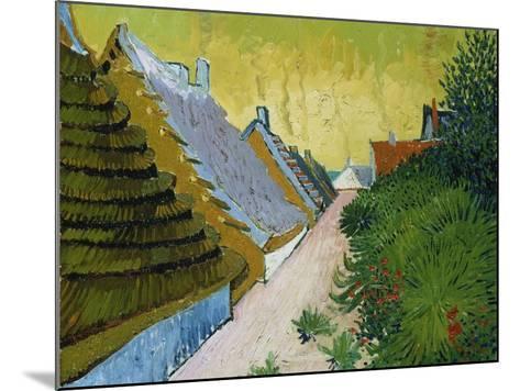 Village Street in Saintes-Maries, 1888-Vincent van Gogh-Mounted Giclee Print