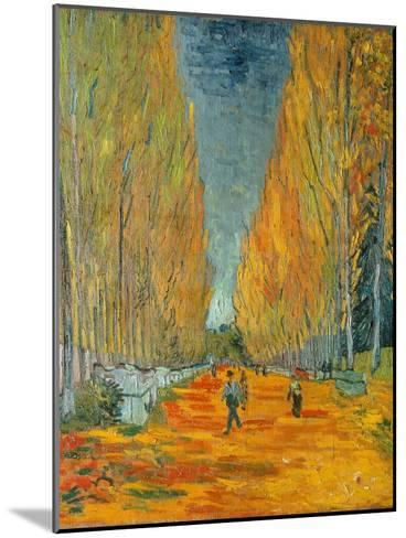 The Alyscamps, Arles, 1888-Vincent van Gogh-Mounted Giclee Print