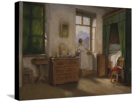 Die Morgenstunde, um 1860-Moritz Von Schwind-Stretched Canvas Print
