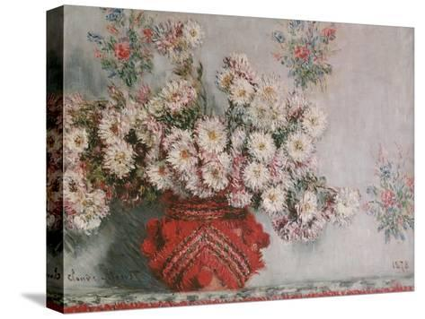 Chrysanthemums (Mums), 1878-Claude Monet-Stretched Canvas Print