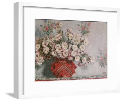 Chrysanthemums (Mums), 1878-Claude Monet-Framed Art Print