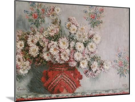 Chrysanthemums (Mums), 1878-Claude Monet-Mounted Giclee Print