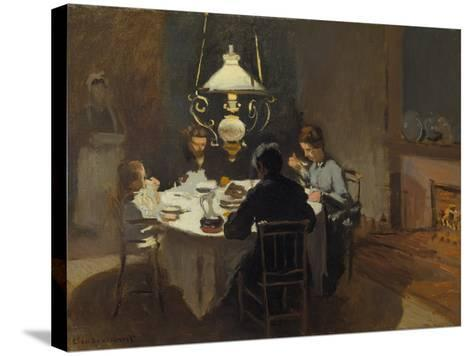 Dinner-Time at the Sisley's, ca. 1868/69-Claude Monet-Stretched Canvas Print