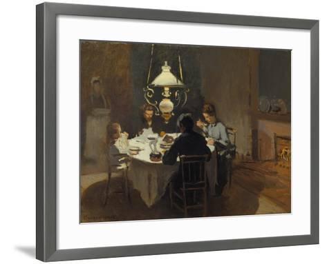 Dinner-Time at the Sisley's, ca. 1868/69-Claude Monet-Framed Art Print