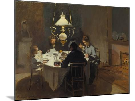 Dinner-Time at the Sisley's, ca. 1868/69-Claude Monet-Mounted Giclee Print