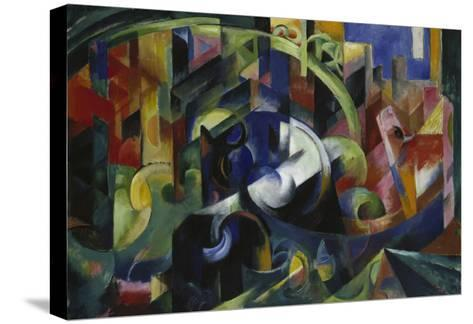 Painting with Cattle I, 1913/1914-Franz Marc-Stretched Canvas Print