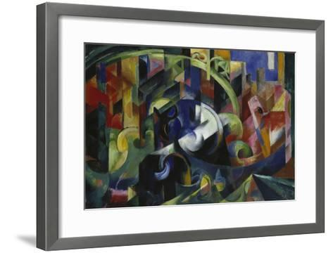 Painting with Cattle I, 1913/1914-Franz Marc-Framed Art Print