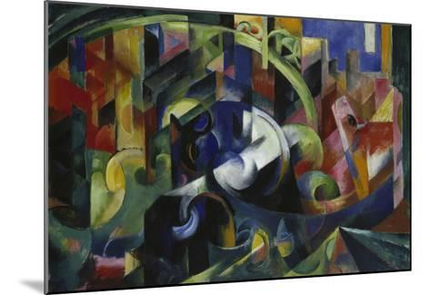 Painting with Cattle I, 1913/1914-Franz Marc-Mounted Giclee Print