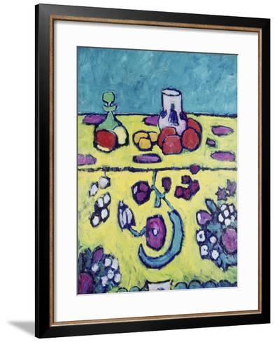 Still-Life with Colourful Cloth, 1910-Alexej Von Jawlensky-Framed Art Print