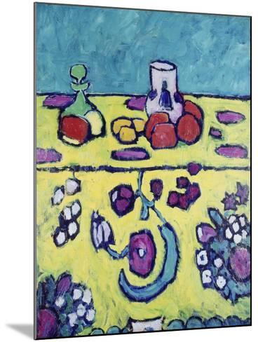 Still-Life with Colourful Cloth, 1910-Alexej Von Jawlensky-Mounted Giclee Print
