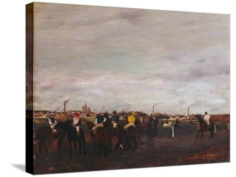 At the Racecourse, before the Race, 1872/73-Edgar Degas-Stretched Canvas Print