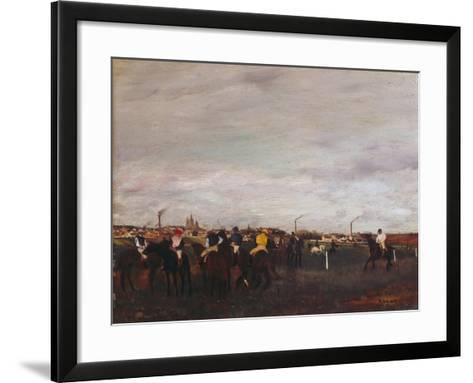 At the Racecourse, before the Race, 1872/73-Edgar Degas-Framed Art Print