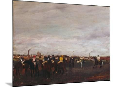 At the Racecourse, before the Race, 1872/73-Edgar Degas-Mounted Giclee Print