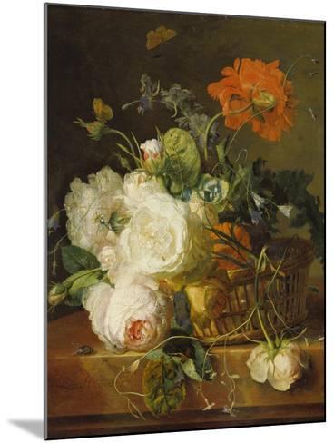 Basket of Flowers. (Undated)-Jan van Huysum-Mounted Giclee Print