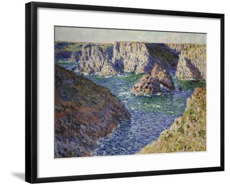 The Rocks of Belle Ile, 1886-Claude Monet-Framed Art Print