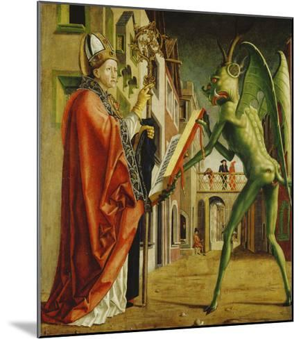 Church Father Altar. Right Outer Wing: St. Augustin and Satan-Michael Pacher-Mounted Giclee Print