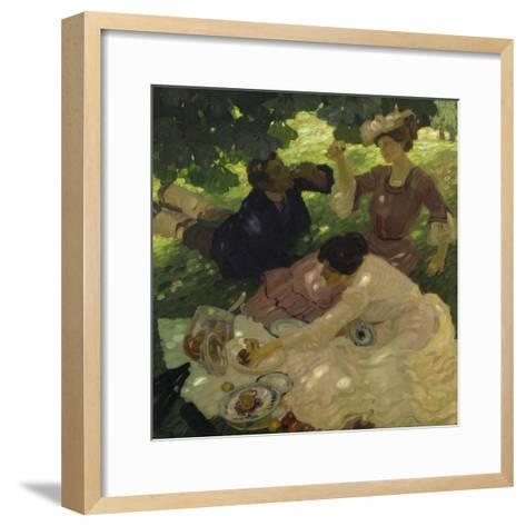 Picknick I, 1904-Leo Putz-Framed Art Print
