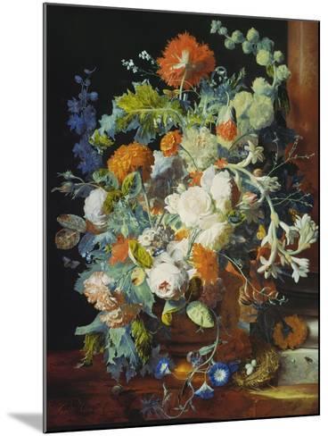 Flower Bouquet Next to a Column-Jan van Huysum-Mounted Giclee Print