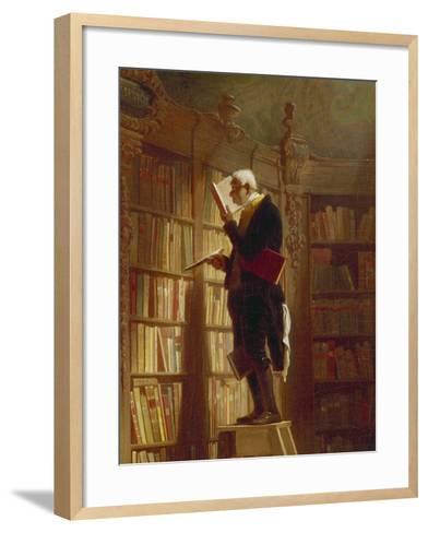 Der Buecherwurm (Detail), um 1850-Carl Spitzweg-Framed Art Print