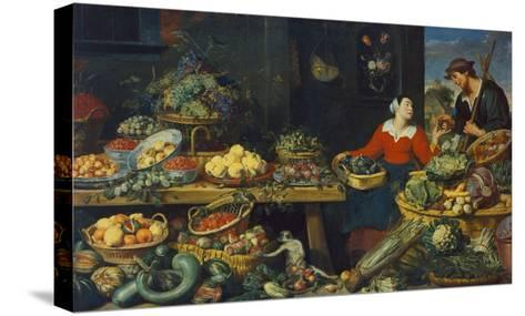 Vegetable Stall-Frans Snyders-Stretched Canvas Print