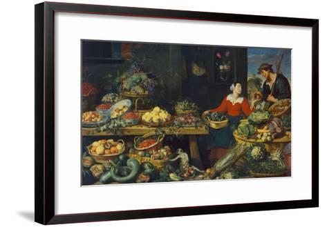 Vegetable Stall-Frans Snyders-Framed Art Print