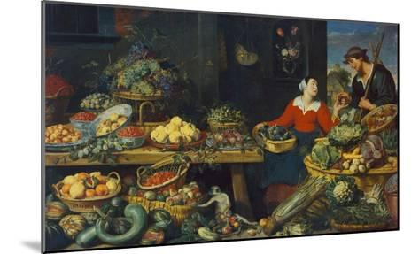 Vegetable Stall-Frans Snyders-Mounted Giclee Print