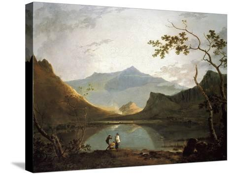 Snowdon from Llyn Nantlle, um 1765/67-Richard Wilson-Stretched Canvas Print