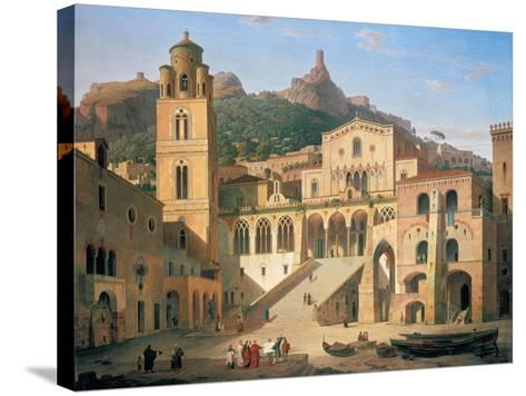 Der Domplatz Von Amalfi, 1859-Leo Von Klenze-Stretched Canvas Print