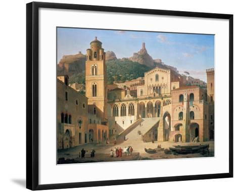 Der Domplatz Von Amalfi, 1859-Leo Von Klenze-Framed Art Print