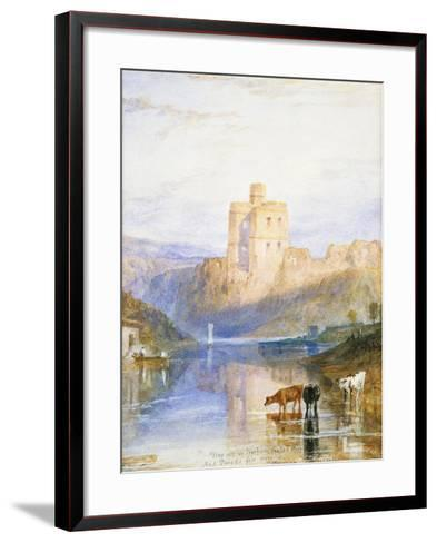 Norham Castle: an Illustration to Sir Walter Scott's Marmion, 1818-J^ M^ W^ Turner-Framed Art Print