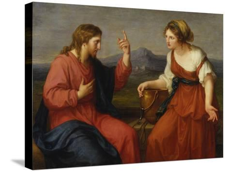 Christ and the Samaritan Woman at the Well, 1796-Angelica Kauffmann-Stretched Canvas Print