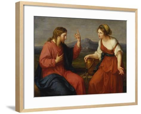 Christ and the Samaritan Woman at the Well, 1796-Angelica Kauffmann-Framed Art Print