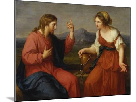 Christ and the Samaritan Woman at the Well, 1796-Angelica Kauffmann-Mounted Giclee Print