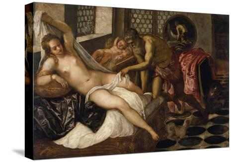 Mars and Venus Surprised by Vulcan-Jacopo Robusti Tintoretto-Stretched Canvas Print