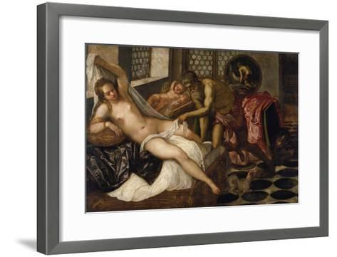 Mars and Venus Surprised by Vulcan-Jacopo Robusti Tintoretto-Framed Art Print