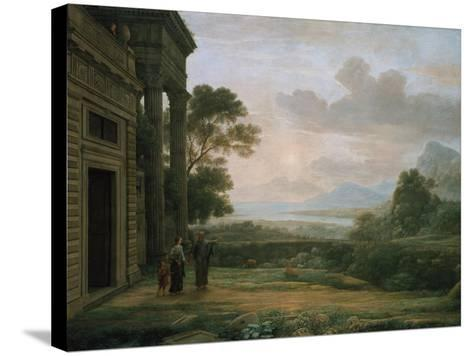 The Expulsion of Hagar and Ismael, 1668-Claude Lorraine-Stretched Canvas Print