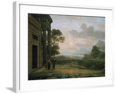 The Expulsion of Hagar and Ismael, 1668-Claude Lorraine-Framed Art Print