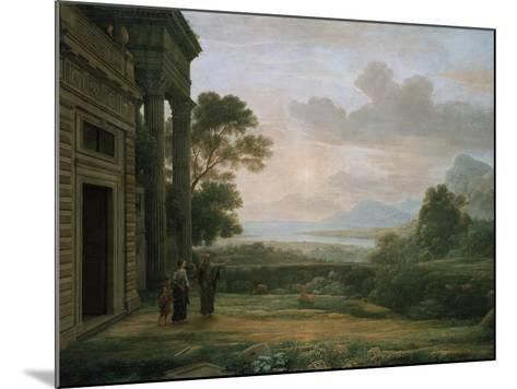 The Expulsion of Hagar and Ismael, 1668-Claude Lorraine-Mounted Giclee Print