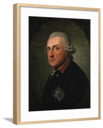 Frederick Ii (The Great) of Prussia, 1781-Anton Graff-Framed Art Print