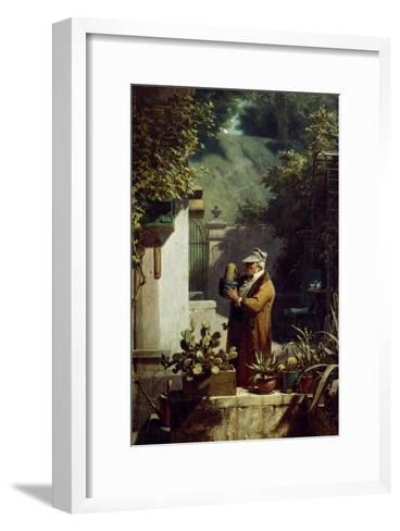 The Cactus Lover. before 1858-Carl Spitzweg-Framed Art Print
