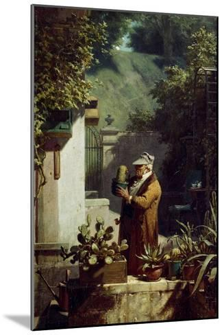 The Cactus Lover. before 1858-Carl Spitzweg-Mounted Giclee Print
