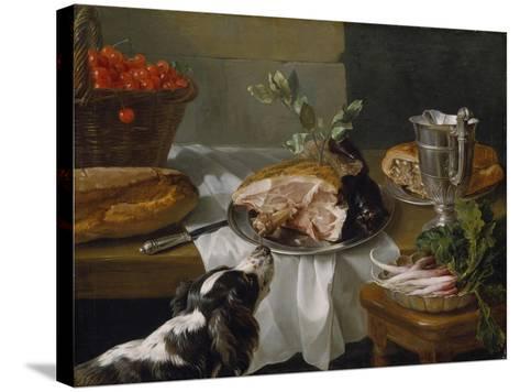 Still Life with Dog-Alexandre-Francois Desportes-Stretched Canvas Print