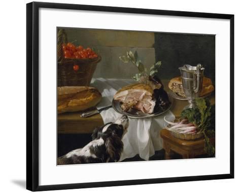 Still Life with Dog-Alexandre-Francois Desportes-Framed Art Print