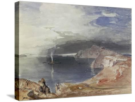 Santorini, 1845-Carl Rottmann-Stretched Canvas Print
