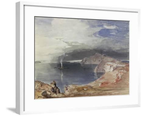 Santorini, 1845-Carl Rottmann-Framed Art Print