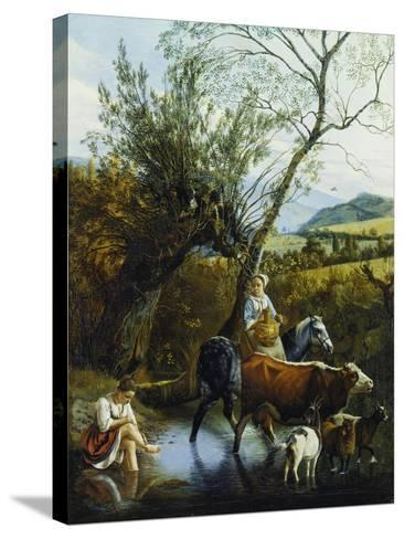 The Ford, 1672-Jan Siberechts-Stretched Canvas Print