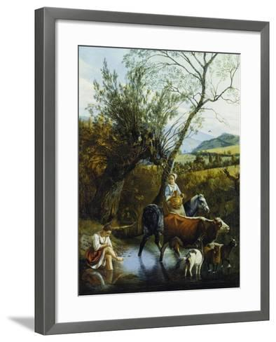 The Ford, 1672-Jan Siberechts-Framed Art Print